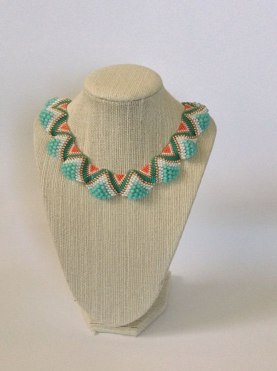 Statement necklace with an ungulating surface by PerlinabyBeth