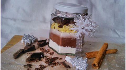 Diétás forró csoki hozzávalók üvegben, a tökéletes karácsonyi gasztroajándék!