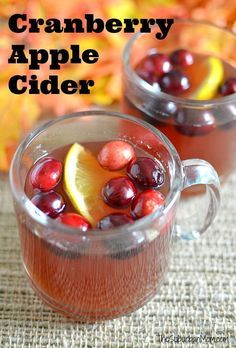 Ya'll, my house smells ah-mazing right now. This Cranberry Apple Cider is delicious, warms you from the inside out and makes your whole house smell like the holidays.