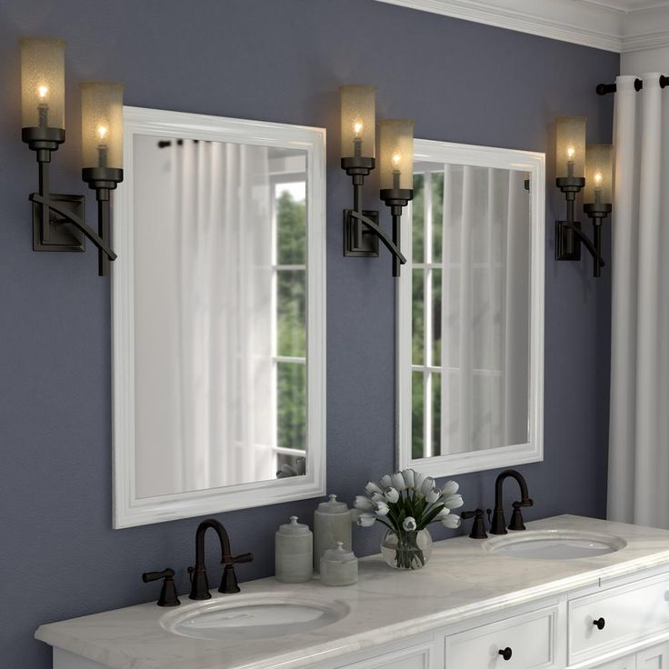 Hampton Bay 2 Light Iron Oxide Sconce With Scavo Glass Shades