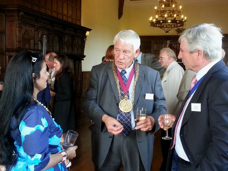 Mayor Collin Sykes, Witham MP Priti Patel and Essex Councillor Norman Hume joined our reception at Layer Marney Towers