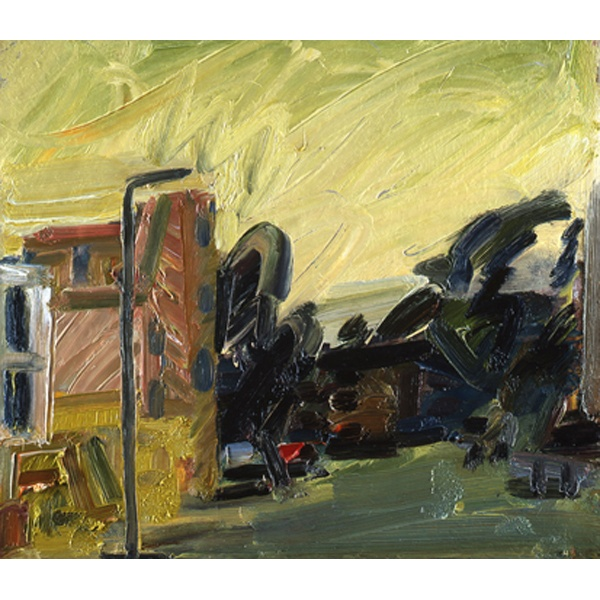 Frank Auerbach   Albert Street III, 2010  Oil on board  44.1 x 52 cm   17 3/8 x 20 1/2 inches