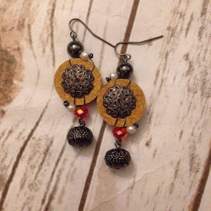 A personal favorite from my Etsy shop https://www.etsy.com/listing/236175955/wine-cork-earrings