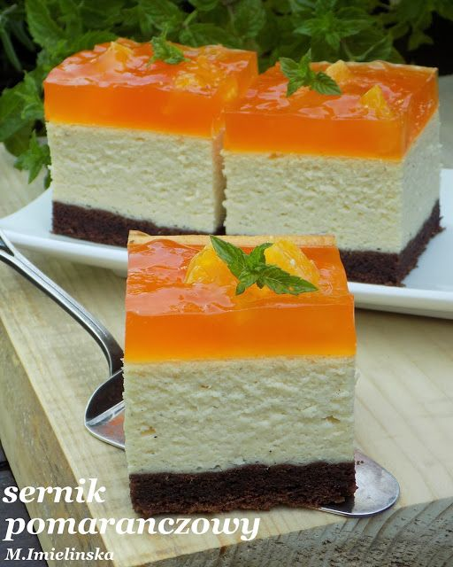 Domowa Cukierenka - Domowa Kuchnia: sernik pomarańczowy na biszkopcie