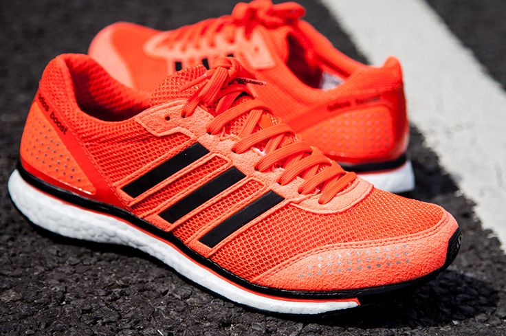 #Adidas Adizero Adios Boost Trainer in Infared. My new babies!! #chimarathon