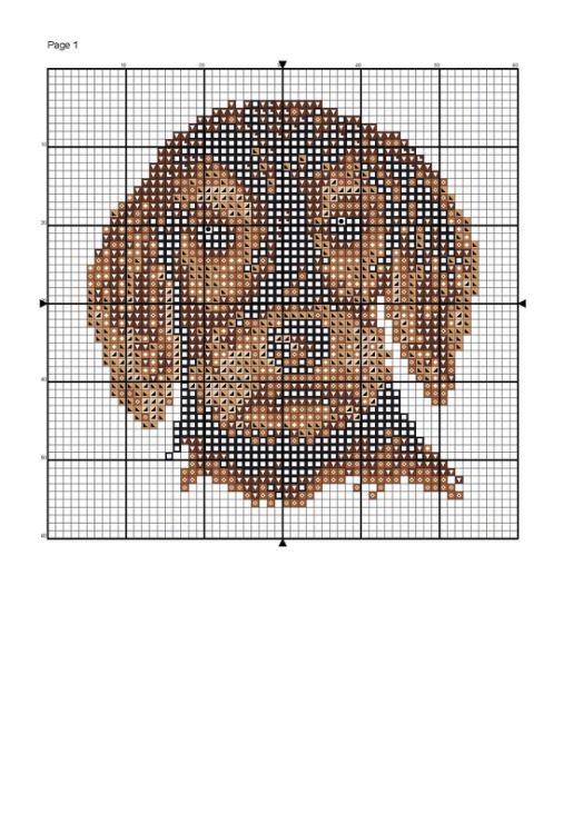 Mejores 139 imágenes de perros a punto de cruz en Pinterest ...
