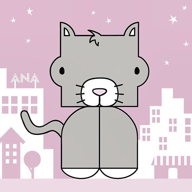 Loving this kitty cat in a pink background   #happykid #coolkids #nursery #kidsroom #babystuff #kidsgifts #kidsgiftideas #pink