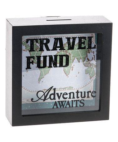 Look at this #zulilyfind! 'Travel Fund' Shadowbox Bank #zulilyfinds