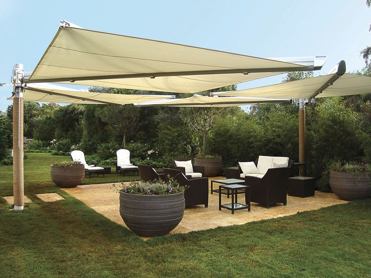 Outdoor Inspiration   Sun Shade Sail, Large Planters