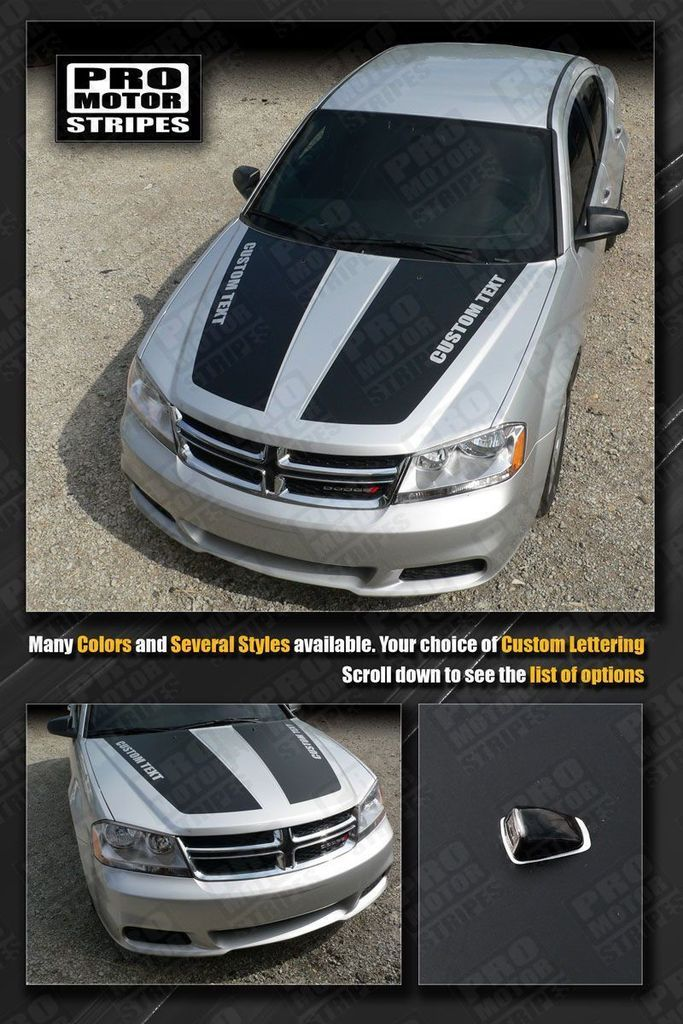 Dodge Avenger 2008 2014 Hood Racing Stripes Dodge Avenger Racing Stripes Dodge