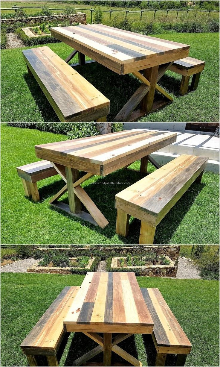 recycled-wood-pallet-patio-picnic-table