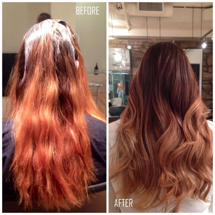 Faded Orange And Brassy To Vibrant Deep Red By Euqinad Euqinad