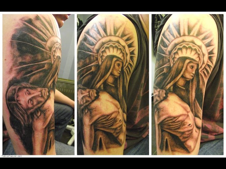 Christian Sleeve Tattoos For Men Images & Pictures - Becuo Face ...