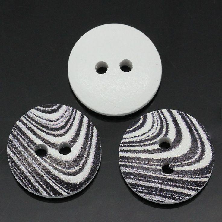 Knoflík - zebra