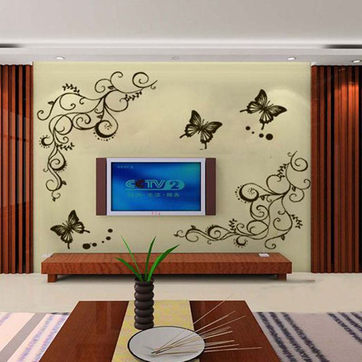 Butterfly and Flowers Wall Sticker //Price: $12.37 & FREE Shipping //     #wallsticker