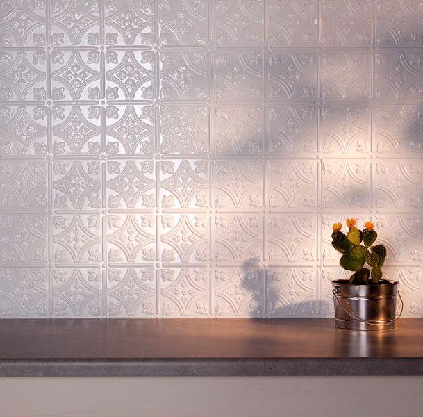 Fasade Backsplash   Traditional 1 In Matte White