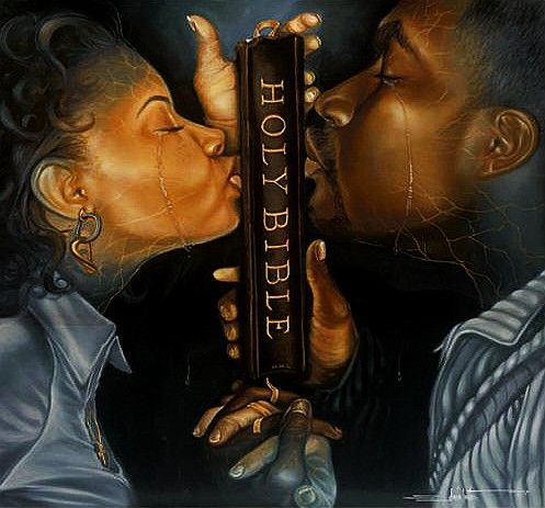 """Restored"" by Edwin Lester. $380 available at http://www.blackartdepot.com/edwinlester.htm"