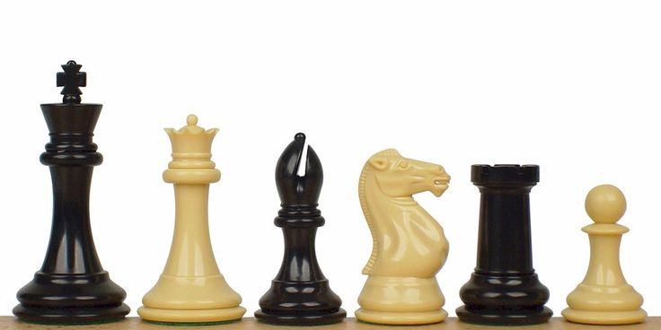 "Professional Plastic Chess Set Black & Camel Pieces - 4.125"" King - The Chess Store"