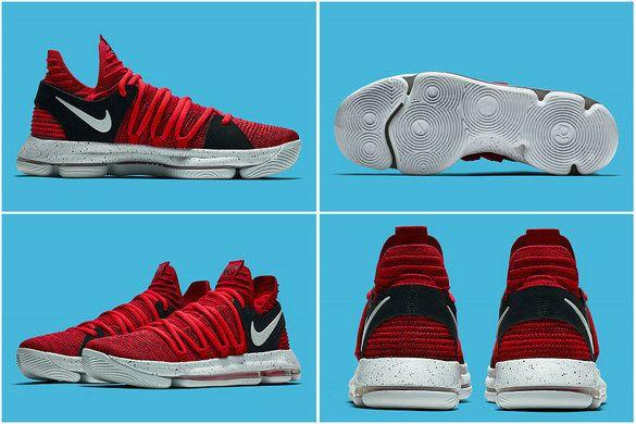 timeless design 1efa7 2f703 Nike KD 10 X University Red Black 897816-600