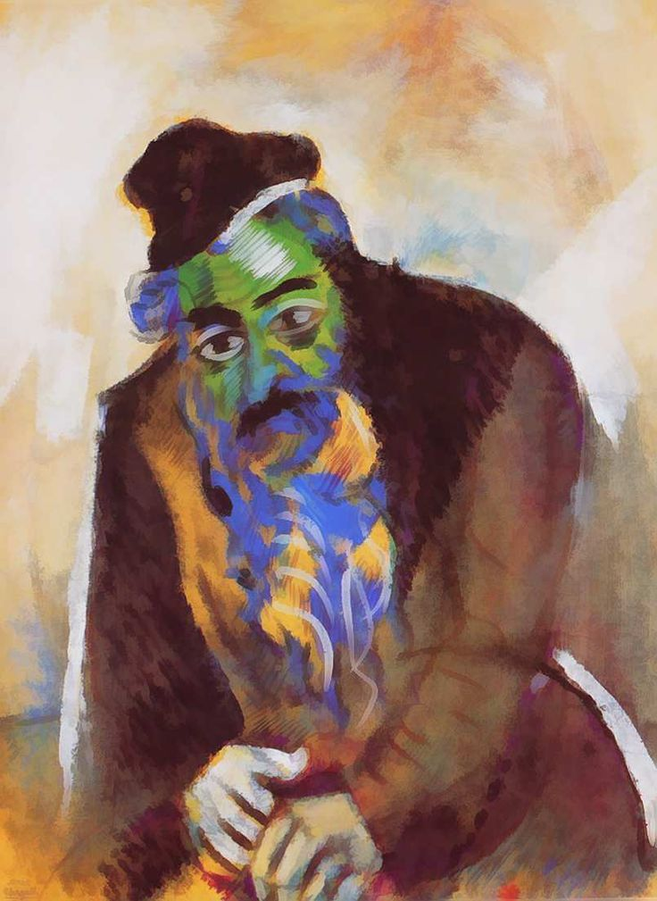 The old Jew Artist: Marc Chagall Completion Date: 1912 Place of Creation: Paris, France Style: Expressionism Genre: portrait Technique: oil ...