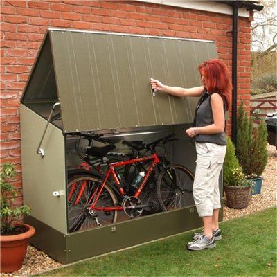 Bike storage idea                                                                                                                                                                                 More