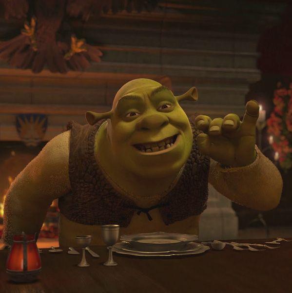 Shrek 2 Movie Dinner Scene Shrek Animation Film Shrek Memes