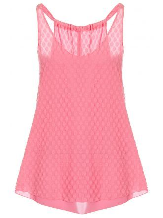 Hot Pink Lace Bubble Swing Top - Quiz Clothing