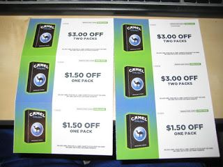 Cigarette coupons by email