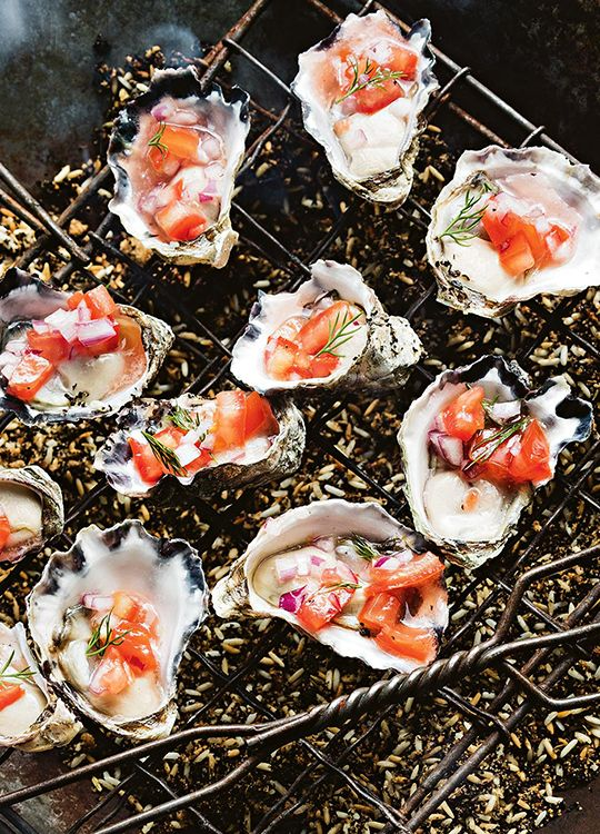 How to make Smoked Oysters with Tomato Salsa