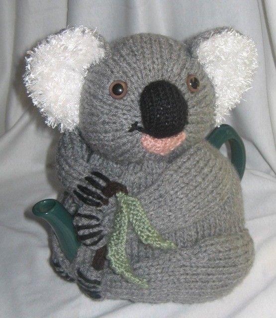 Koala Tea Cosy Knitting Pattern download $4.43 on Etsy at http://www.etsy.com/listing/72783765/koala-tea-cosy-knitting-pattern