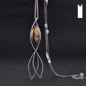 SILVER FISH | Monika Kraczek  silver necklace, labradorite, long necklace, unique, exclusive