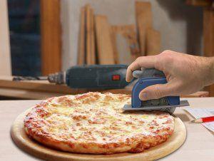 Pizzaschneider für alle handwerklich begabten Männer ;-)  #Pizza #Pizzaschneider #Handwerker #Männersachen #GeekStuff #Devallor #Kreissäge