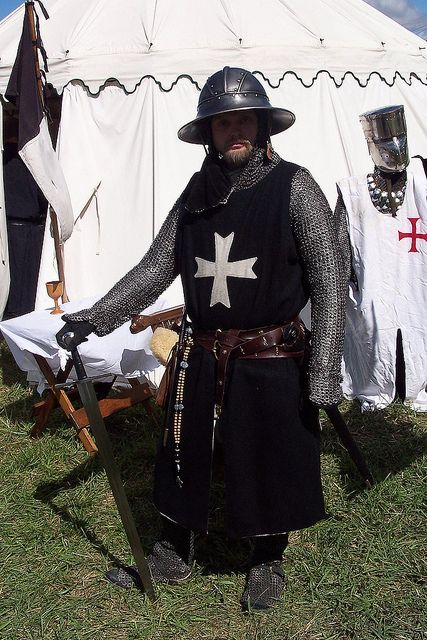 Hospitaller Knight circa 1248 to 1259 AD by One lucky guy, via Flickr