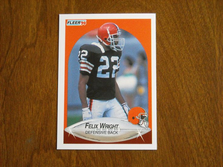 Felix Wright Cleveland Browns Defensive Back Card No. 60 (FB60) 1990 Fleer Football Card - for sale at Wenzel Thrifty Nickel ecrater store