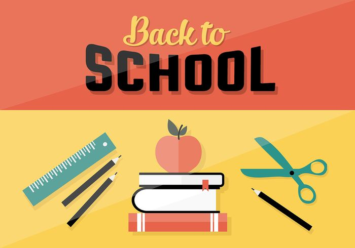 Free vector Free Back To School Vector Background #31745
