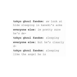 HIDE IS SLEEPING DAMMIIIITTTTTTT... or did you not see him twitching (breathing) when Kaneki's teardrop fell on his face...he is freakin' sleepin' ....HIDE IS ALIVE YAY!!!!! <<< no, he wasn't twitching, he was SMILING.