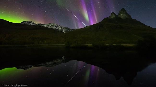 Spetakulært nordlys, bilde tatt i Storfjord kommune i Troms. (Foto: Ole Christian Salomonsen)