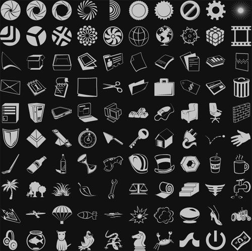 1K  Custom Photoshop Shapes to Download Free