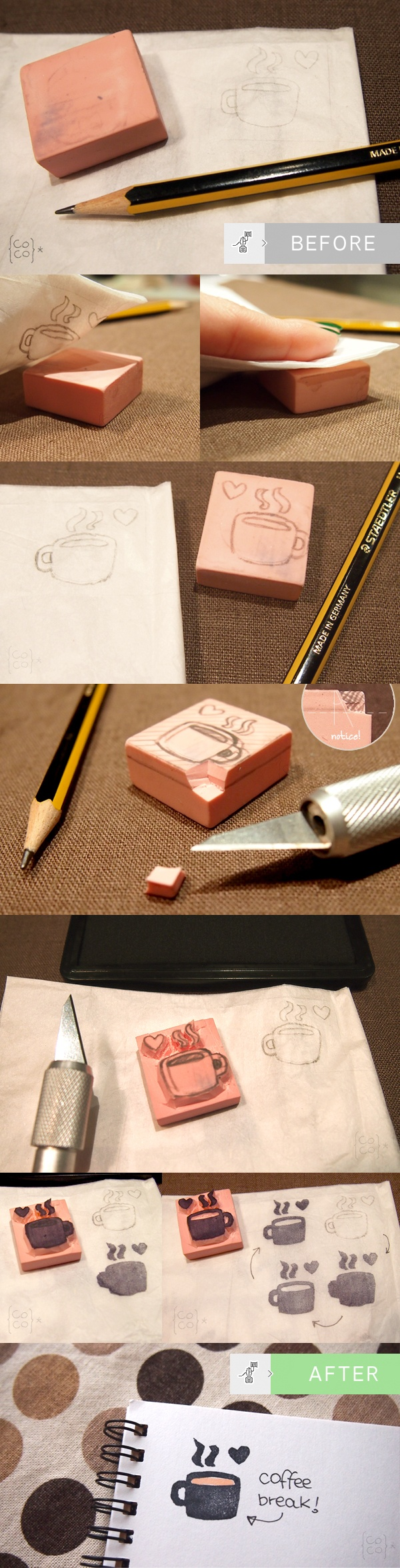 How to do Rubber Stamps!