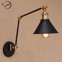 Nordic Стиле Лофт старинные регулируемая длинная рука бра современный для мастерской спальня бар E27/E26 Светильников для домашнее Освещение(China (Mainland))