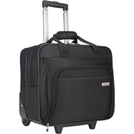Targus Rolling Laptop Case, 1200D Polyester, Black