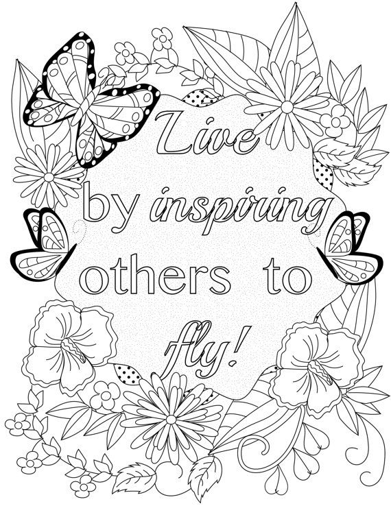 Inspirational Quotes A Positive Uplifting By LiltColoringBooks Adult ColoringColoring BookColouringZentanglesCounselingInspirational