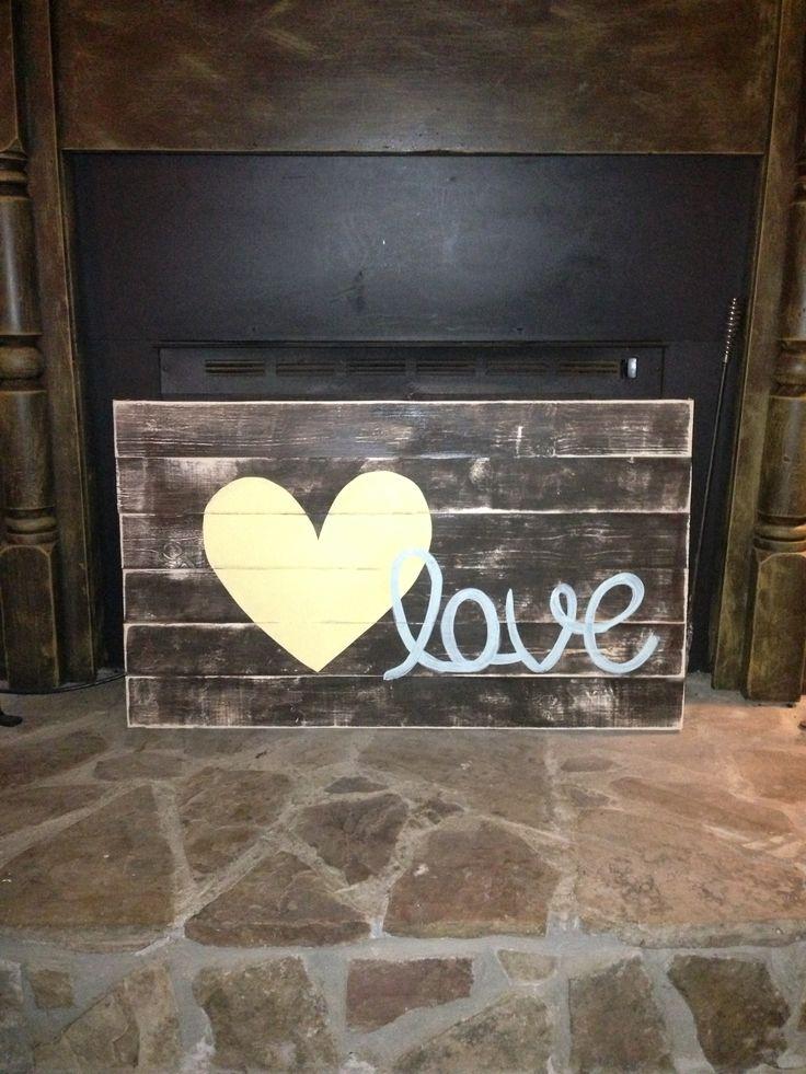 Love sign - make for above bed in master bedroom