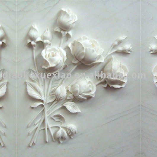 rose flower relief art