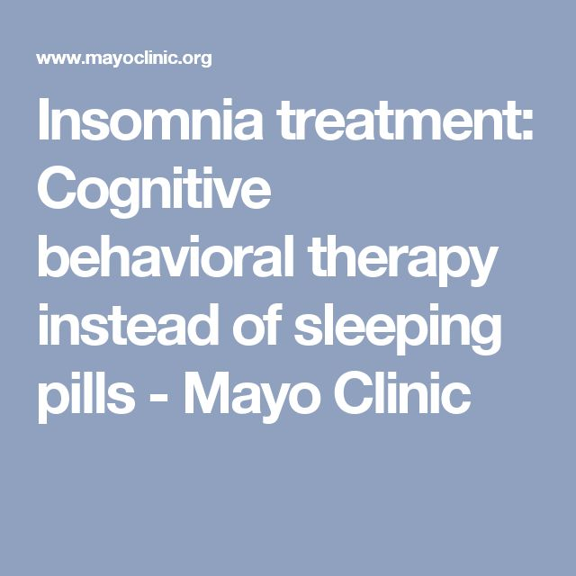 Treatment severe insomnia