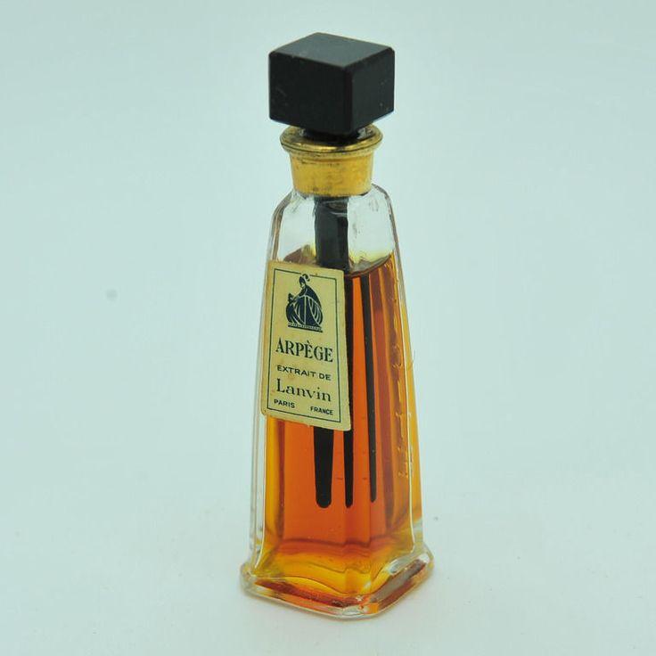 Vintage Lanvin Arpege Perfume Extract Mini Bottle | eBay