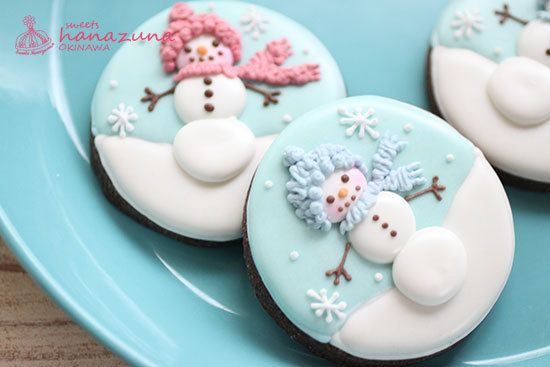 sweets hanazunaのお菓子ブログ:❇︎ 雪だるまのアイシングクッキー ❇︎