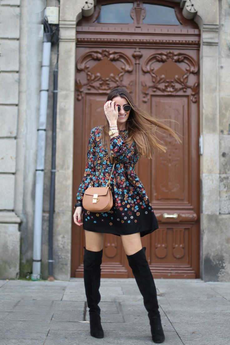 4.bartabac, bartabacmode, blog, blogger, fashion blog, blog d emoda, mini dress, over the knee boots, flowered dress, yeyé, botas altas, chloè bag, silvia bartabac, jpg