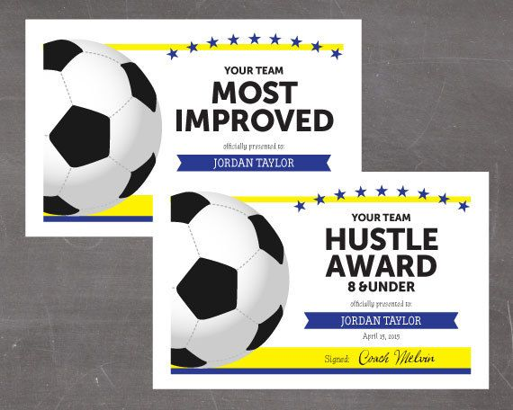 Hereu0027s a list of Soccer Award Categories you can use in your award - new printable sport certificates