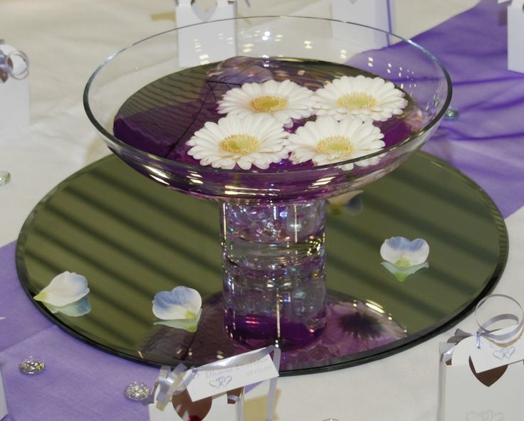 Open footed bowls for floating flowers and candles 7 each for How to make flowers float in vases